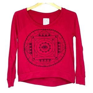 BILLABONG • Burgundy Eye Long Sleeve Top